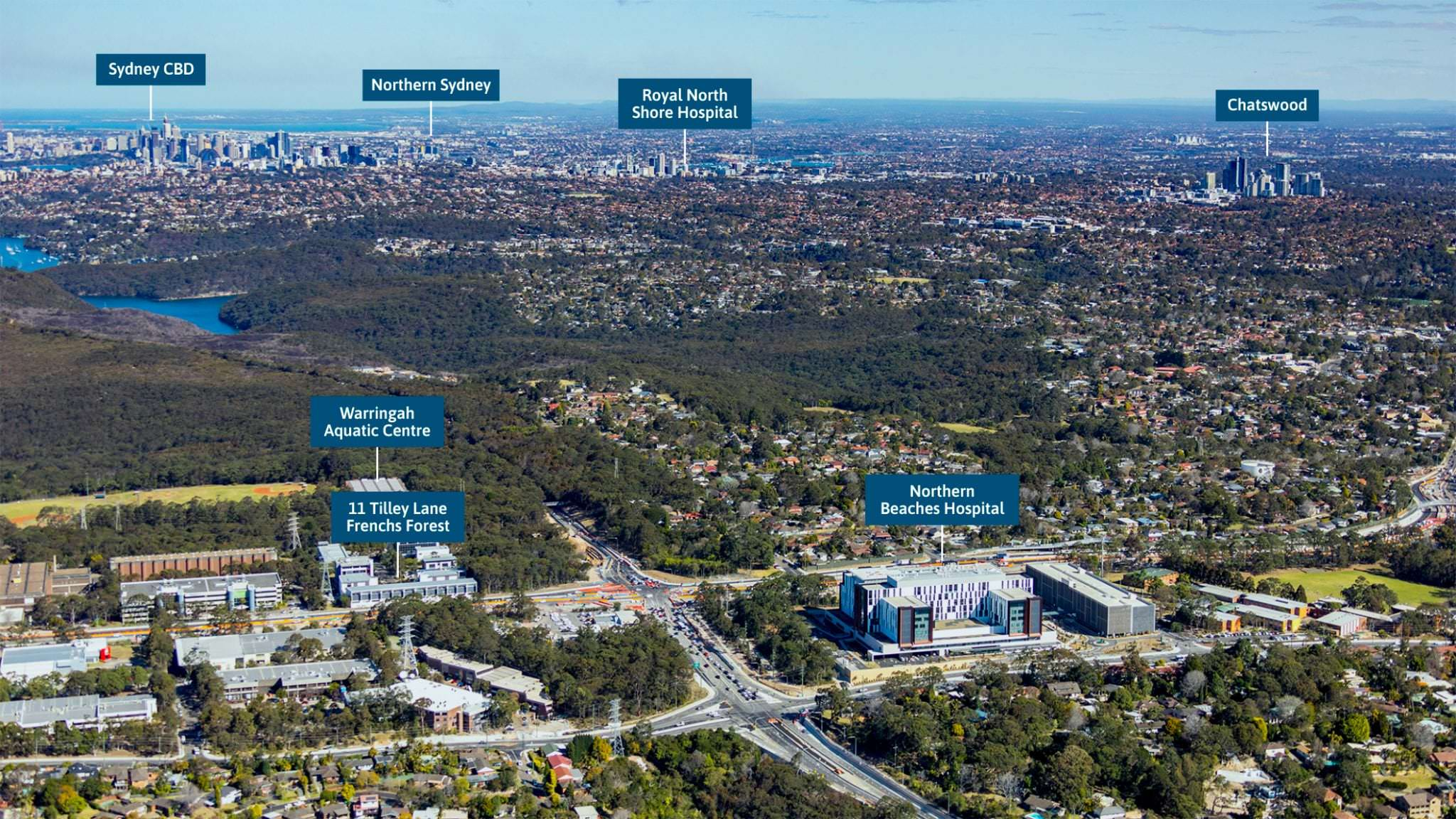 northern beaches frenchs forest location view to sydney